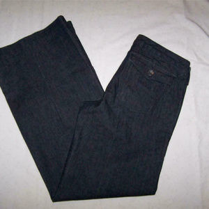 Banana Republic Jeans 8 Wide Legs Stretch 32x32
